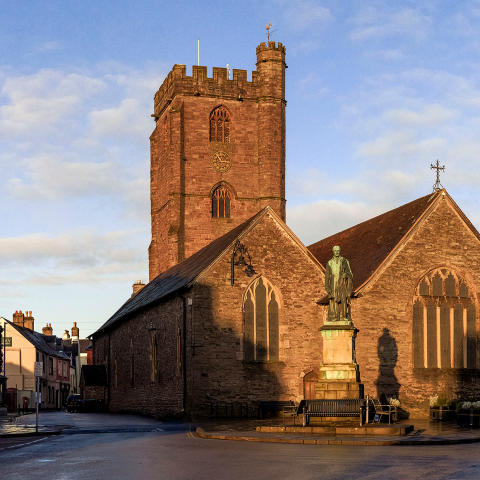 A image of church in Brecon town centre