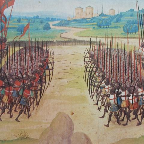 Illustrated image of the Battle of Agincourt